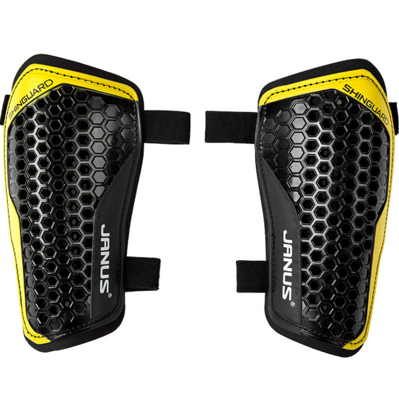 Image JANUS Professional Soccer Shin Guards Football Training Protector Low Leg Pads Soccer Leggings Plate Shin Guards Sports Safety