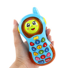 Cell Phone For Children Baby Electronic Cell phone for children Baby Toy Cell Phones for babies Sounding Musical Educational Toy(China)