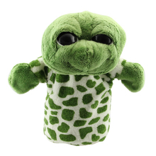 MACH Cute Plush Velour Animals Hand Puppets Chic Designs Kid Child Learning Aid Toy (Big Eye Tortoise) Green(China)