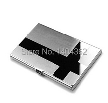 Factory WholeSale print laser logo Visit Card holder custom metal business card holders, custom logo for 10 pcs or above(China)