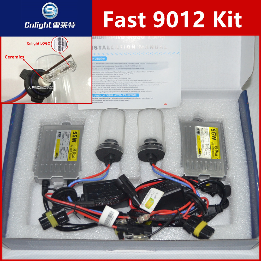1 set fast bright hid 9012 cnlight hid kit HIR2 9012 H1 H3 H11 9005/6 880 H7 Cnlight xenon hid ballast kit for HIR2 halogen led<br><br>Aliexpress