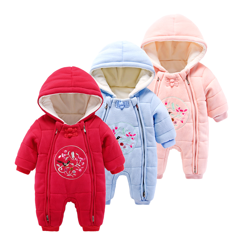 Baby clothes infant romper long sleeve winter newborn velvet clothing<br>