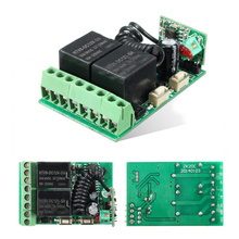 Widely Used 1x 315MHz Favorable Price 12V DC 2CH 10A Relay Wireless Remote Control Switch Receiver(China)