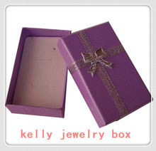 Wholesale 12pcs/Lot Light Purple 5x8x2.5cm Jewelry Set Box Necklace/Earrings/Ring Boxes Gift Box For Jewelry Display Packaging(China)