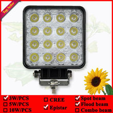 4inch 48W 12V 24V Flood Lamp Led Work Light Boat Tractor Truck Offroad SUV UTE 4WD driving lamps(China)