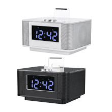 H7 Dual USB Speaker Docking Station Bluetooth V2.1+EDR Alarm Clock Dock with radio for Android For iPhone for iPad