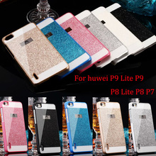 For Huawei P8 Lite Case Ultrathin Bling Glitter Hard PC Back Cover For Huawei Ascend P8 lite Sparkling Phone Case