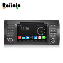Beiinle Car 2 Din Android 4.4.4 QUAD CORE 1024*600 Auto DVD GPS Radio Stereo Navigator for BMW 5 E39 X5 E53 M5 Range Rover(China)