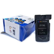 PERSEUS Ink Cartridge For Canon CL-211 CL211XL Color High Yield work with PIXMA MP240 MP250 MP270 MP280 MX320 MX330 PRINTER(China)
