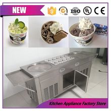 CFR price shipping by sea ice cooker for ice rolls frying ice roll machine