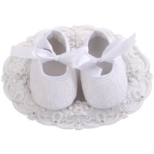 2016 New Infant White Fashion Girls Baby Shoes,Baptism Ballerina Shoes Baby,Antiskid Soft Sole Lace Kids First Walker 4 pair/lot