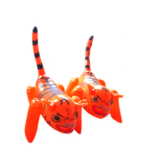 PVC inflatable little tiger Inflatable animals Kindergarten children cognitive cartoon plastic inflatable toys