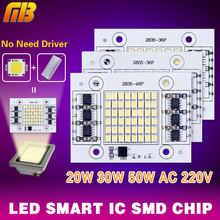 DIY LED SMD Bulb Lamp Light Chip 20W 30W 50W 220V Input Directly Smart IC For Floodlight Spotlight 2835 Cold / Warm White