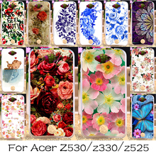 Silicone Mobile Phone Case For Acer Liquid Z530 5Z530S/Z330 Z320 M330/Liquid Zest Z525 Z528 Cover Colorful Flower Rose Shell