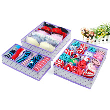 3PCS 5 Colors Household Non Woven Foldable Storage Box Underwear Closet Drawer Storage Bins Cube Sock Tie Bra Lingerie Organizer
