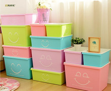 1PC Plastic Underwear Storage Box Household Drawer Type Finishing Box, Thick Cover Plastic Storage Box LF 015(China)