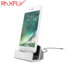 RAXFLY Desktop Charging Stand Holder Base For iPhone 7 6S 6 Plus 5 5S SE Charger Dock Holder Stand Station For iPad Mini 4 3 Air
