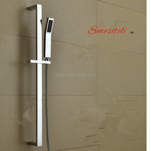 Smesiteli Factory Outlet Brass Hand Shower Rail Sliding Bar Set,With Brass Handheld Shower And 1.5m Hose Wall Mounted