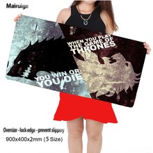 Mairuige Shop Game of Thrones  900*400*2mm Gaming Anti-slip Silicone  Mouse Pad Notebook Computer Lock Edge Mouse Mat for Cs Go