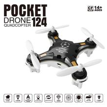 2017 ORIGINAL 124 Mini Quadcopter Micro Pocket Drone 4CH 6Axis Gyro Switchable Controller RC Helicopter Kids Toys