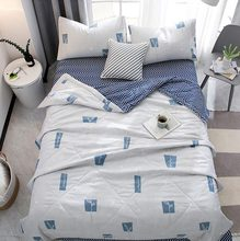 Home Summer thin Comforter stiching Bedroom Duvet Quilt Filling Bedspread Blanket Bedding Bedclothes Bed linings Cartoon Plant(China)