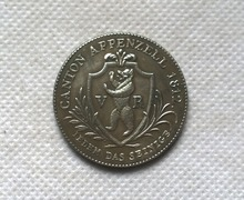 1812 Switzerland 2 FRANKN Silver Coin Copy FREE SHIPPING(China)