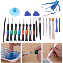21 in 1 Smart Phone Toolkit Repairing Maintenance Set with Anti Static Band Notebook Tablet PC Disassemble Repair Tools(China)