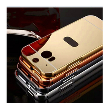 Mirror cover For HTC One M7 M8 M9 E9 plus Plating Metal frame+PC back cover case For HTC Desire 826 816 626 820 728 620 630 530(China)