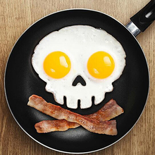 1PC Creative Breakfast Silicone Egg Mold Pancake Ring Human Skeleton Fried Egg Shaper Cooking Tool Kitchen Gadgets