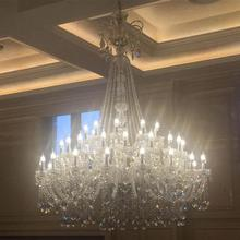 Duplex building Led Lustre candle Chandelier crystal lighting for living room hotel Hall Long big Stair Chandelier E14 Lampadari