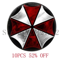 Resident Evil Umbrella Corporation Glass Photo Cabochon Necklace keyring bookmark cufflink earring(China)