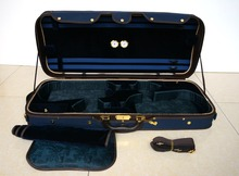Strong&Sturdy 4/4 Full Size Wooden Double Violin Case Blue Color