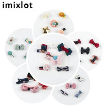 5Pcs/set Hairpin Children Hair Clip Bow Flower Mini Barrettes Star Kids Infant Headband Lovely Hair Accessories(China)