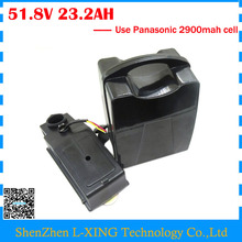 Free customs duty 52V Ebike battery 51.8V 23AH electric scooter battery 52V 14S Lithium battery use Panasonic NCR18650PF cell(China)