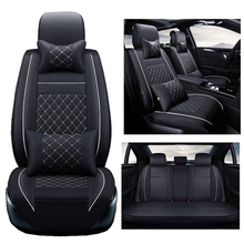 ( Front + Rear ) PU Leather car seat cover For Benz A B C D E S series Vito Viano Sprinter Maybach CLA CLK auto accessories