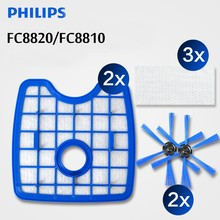 Free Shipping Vacuum Cleaner 2filter screen+2round brush+3floorcloth for Philips Robot FC8820 FC8810 Sweeping robot accessories(China)