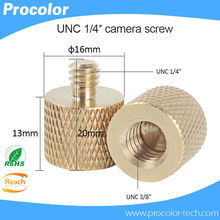 New 3/8 inch Female to 1/4 inch Male Tripod Thread Reducer Adapter Brass Copper For Camera tripod Diameter of screw 6mm(China)