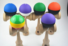 MOQ 60 piece two colors rubber Paint jumbo Kendama Ball Japanese Traditional Toy Balls  size: 25CM*8cm  Free shipping