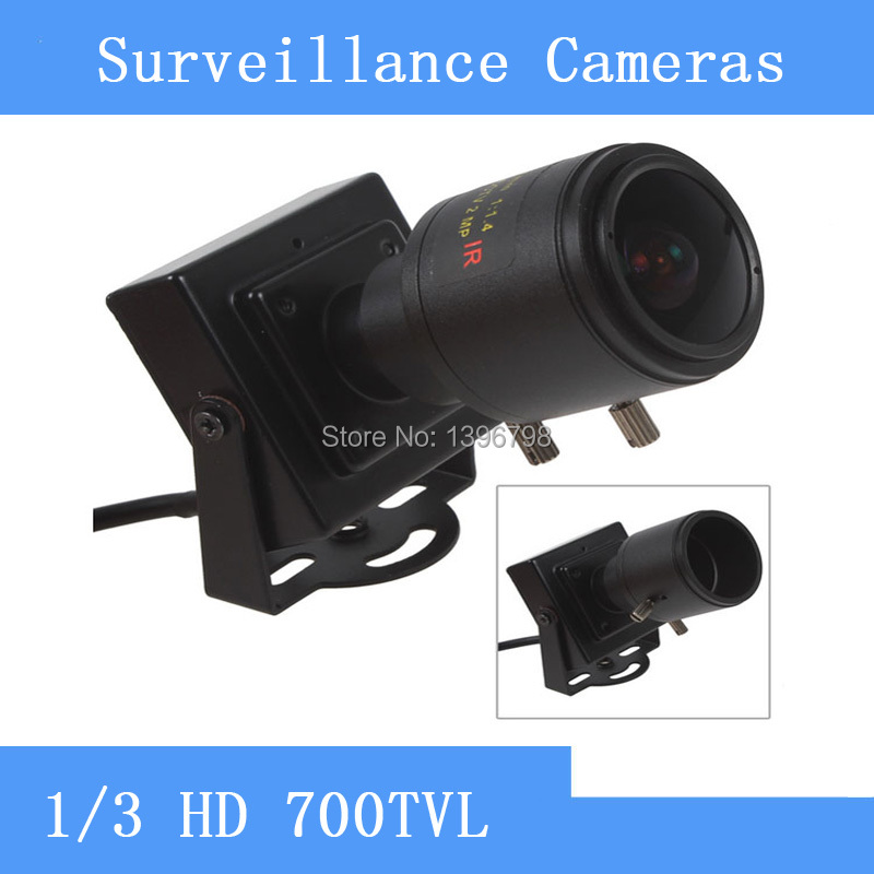 HD 700TVL 1/3 CMOS Mini CCTV Camera with 2.8-12mm Manual Lens for Video Color Security Surveillance <br>