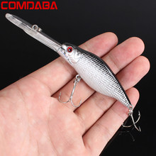 New 1pcs Hard Plastic Minnow Lure 3D Eyes Crankbait Wobbler Artificial Bait 11.5CM/9.2G Fishing Tackle peche pesca jerkbait