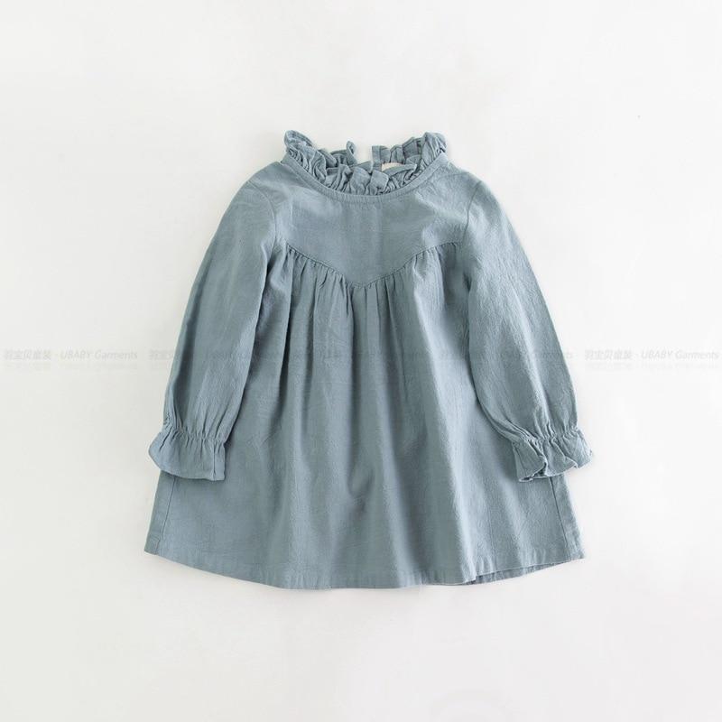 Vestido Infantil Clothing Dresses For Girls Cotton Linen Roupas Infantis Menina Baby Loose Girl Dress Long Sleeve School Clothes<br><br>Aliexpress