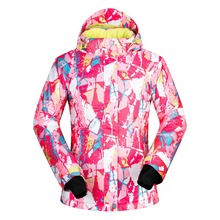 2017 Hot sale snow jackets women ski jacket underwear outdoor skiing windproof waterproof ski snowboard coats thermal clothing(China)