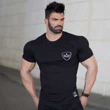 Buy Mens summer gyms cotton t-shirt fitness workout Crossfit Short sleeve o-neck shirts male Fashion leisure tees tops brand clothes for $8.99 in AliExpress store