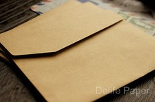100pcs Retro Style Blank Kraft Envelopes Natural color Plain Kraft Paper Bags Gift Bags