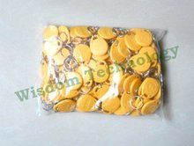 Free Shipping 100pcs/Lot Rfid Tag 125Khz keyfobs Access Control Smart Card  yellow