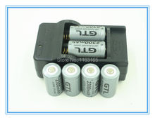 6x 2300mAh 16340 CR123A Rechargeable Li-ion Battery Gray For LED Flashlight + Travel Charger(China)