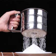 Stainless Steel Mesh Flour Sifter Cup Shape Icing Sugar Shaker Sieve Powder Flour Sieve Cooking Baking Tools Kitchen Gadgets