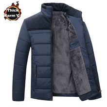 Winter Brand Men Jacket Fur Hood With Cashmere Plus Size 4XL Winter Jacket High Quality Fashion Men's Coat Hot Sale(China)