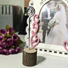 Mini tree stump seating card holders stand mariage party decoration  table Wedding Table Number Ideas