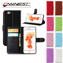 OWNEST Luxury Wallet Flip Cover stand Case For iPhone 7 PLUS 6 6S Plus 5 5S case Cell Phone PU Case with Card Slot(China)